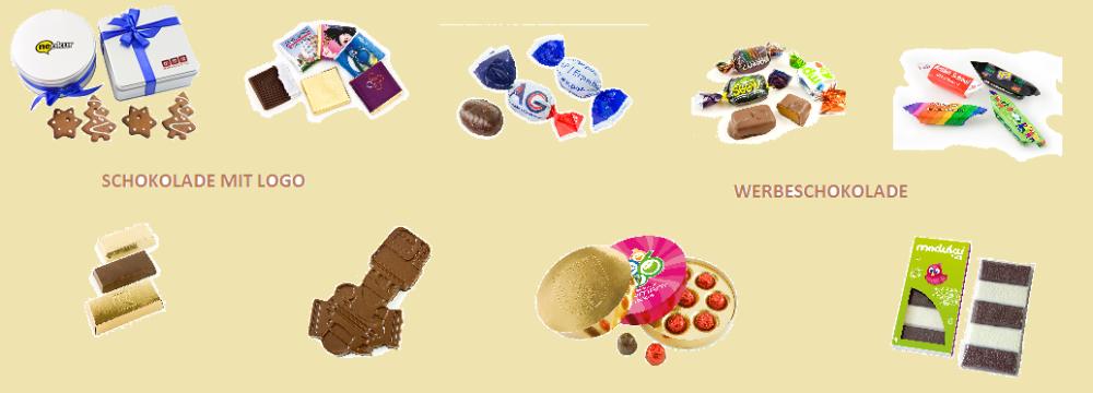 Schokolade mit Logo